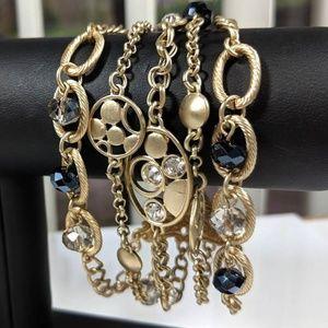 Jewelry - Multi Strand Rhinestone Bracelet